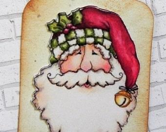 Santa Gift Tag, Christmas Gift tag, gift tag, holiday tag