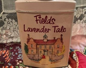 Vintage Fields Lavender Talc Tin