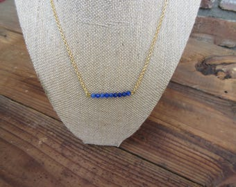 1014 Goldfilled necklace with sapphires