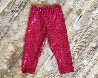Hot Pink Sequin Pant