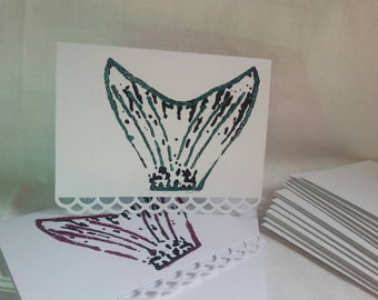 Mermaid Tailfin Notecard Set