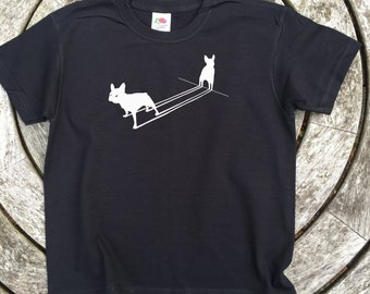 French Bulldog T Shirt Silhouette Frenchies Childrens Dog Puppy Tee