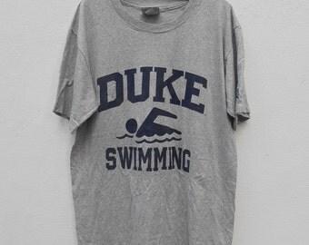 Vintage Duke University T-Shirt Duke Swimming Rayon