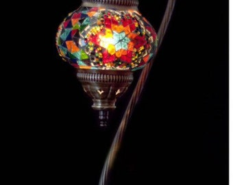 Handmade Turkish Mosaic glass lamps, turkish lamp, table lamp, arabian lamps