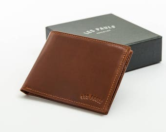 Leather Wallet / Brown & Red