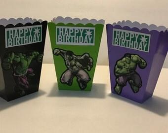 Hulk mini popcorn box