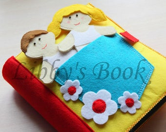 12 Pages! Handmade Activity Quite Book , Busy Book, Book for Toddler, Sensory toy
