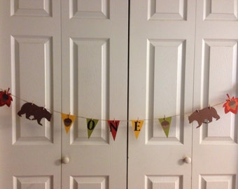 ONE Birthday Banner Bear Birthday Banner bay shower banner nursery banner bear banner