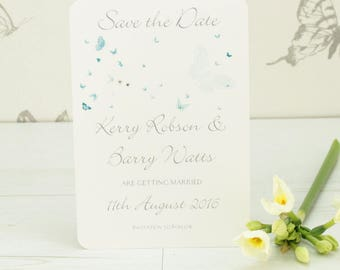 Personalised Butterfly Save the Date Card