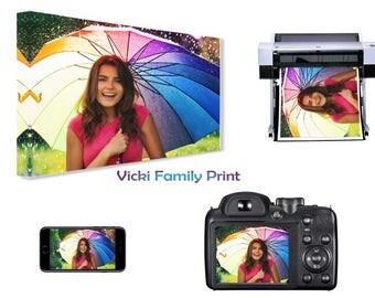 """Personalised 16""""x16"""" Canvas Print, your photo  - 18mm Frame, 280gsm"""