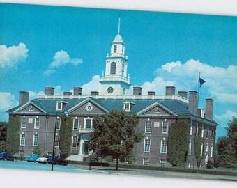 Dover, Delaware, Postcard, Capitol Building of Delaware, Vintage Postcard, Inv0821