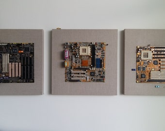 Recycled Computer Hardware Wall Decor