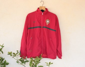 Retro Moroccan International Football Team Zip Up Training Top - Size Extra Large