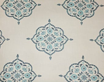 Quadrille Medera Linen Fabric by the yard