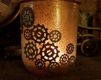 Steam punk tealight holder