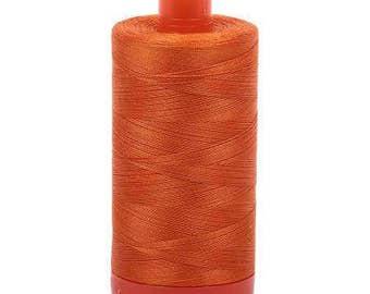 Aurifil Mako Cotton Thread Solid 50wt 1422yds Pumpkin