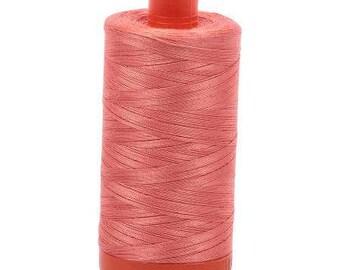 Aurifil Mako Cotton Thread Solid 50wt 1422yds 1050-6729 Tangerine Dream