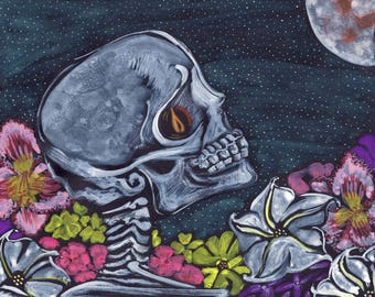 Giclée Art Print - Death in the Night Garden - 8 x 10