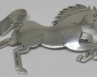 ACL Sterling Silver Horse pin and BroochMade By Native Americans DBW