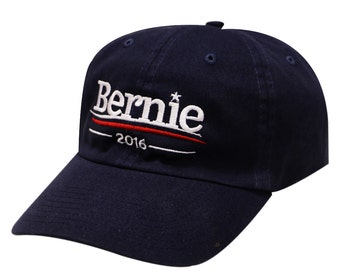 Capsule Design Bernie Sanders 2016 Cotton Baseball Cap Navy