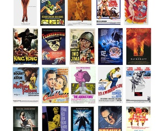 1:87 HO scale model movie theater posters
