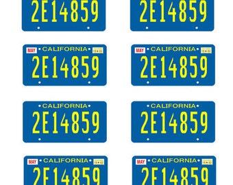 scale model A-Team car license tag plates Ateam tv show