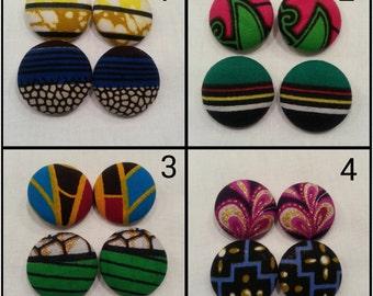Ankara Clip On Earings- 2 Pack