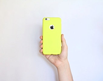 Apple iPhone 7 Ultra Thin Slim Minimalist Skin Case Yellow Kiwi