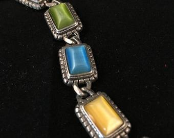 Multi-Colored Gem Bracelet