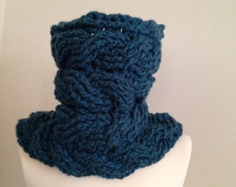 Bulky Cowl, Neck Warmer, Winter Scarf, Cable Scarf,