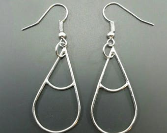 Handmade Sterling Silver Earrings // Tear Drop Earrings