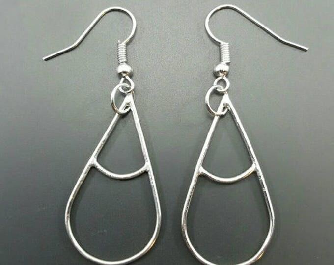 Handmade Sterling Silver Earrings // Tear Drop Earrings