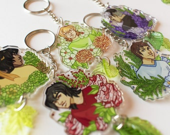 ON SALE   Voltron Legendary Defender Floral Acrylic Charms