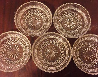 Set of 5 Glass Dessert Bowls