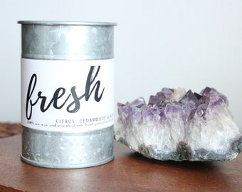 Soy Wax and Essential Oil Aromatherapy Candle