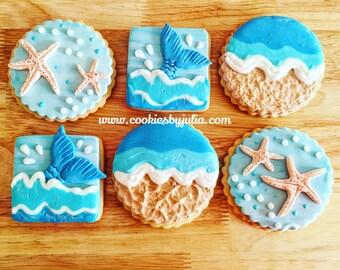 Beach cookies/beach/cookies/ocean/vacation/beach wedding/vacation mode/beach decor/wedding/destination wedding/destination wedding favors/