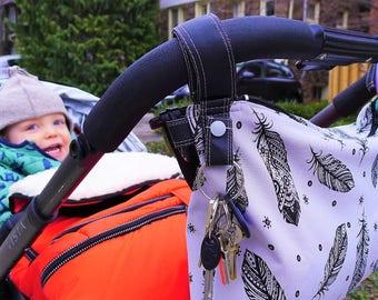 Crossbody Stroller Bag - Stroller Organizer - Pram Caddy - Pram Organizer - Water-resistant Stroller Bag - Diaper Bag with stroller straps
