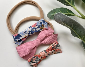 Rifle Paper Co. Floral / Nylon Headband / baby gift / baby girl / florals / baby set gift/ rifle paper