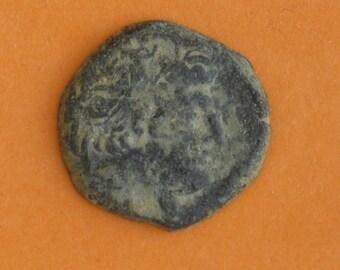 Antique Greek coin. Antiochus XII. Ca 88-84 BC.