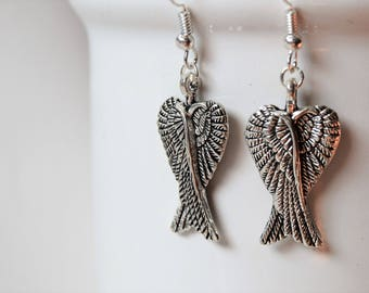 Angel wing earrings | Angel jewelry | Spiritual earrings | Angel earrings | Wing earrings | Guardian angel earrings | Guardian angel