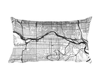 Calgary Pillow, Calgary Decor, Calgary Cushion, Calgary Throw Pillow, Calgary Gift, Calgary AB Map, Calgary Art, Calgary Alberta, Throw