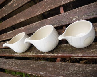 Trio Hornsea Pottery Concept, Swan Lake, Milk/Creamer Jugs, Retro Hornsea Collectables, Vintage Swan Lake Pottery, Creamers