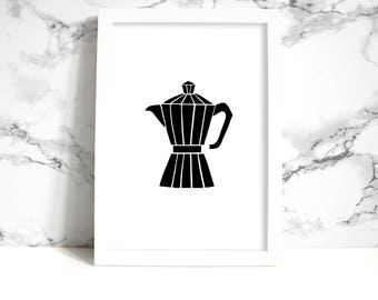 Coffee Art Decor| Minimalist Black and White| Printable Art| Coffee Sign| Home Decor| Coffee Lover Gift| Tumblr Room Decor| Boho Wall Decal