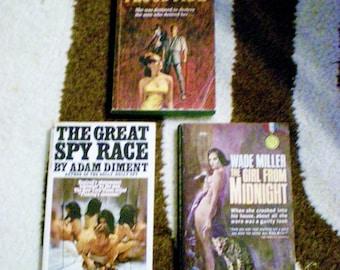 Naughty Vintage Paperbacks 60s Novels Set