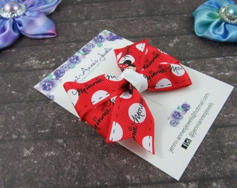 Pinwheel Hair Bow Clip - Minnie Mouse