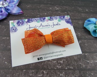 Large Glitter Bow Tie Clip