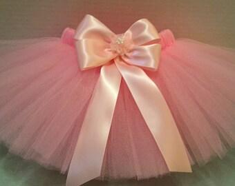 PINK BABY TUTU, Light Pink Tutu, 1st Birthday Tutu, Princess Tutu, Newborn Tutu, Ballerina Tutu, First Birthday Tutu, Dark Pink Tutu