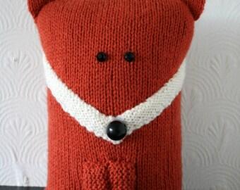 Knitted Fox Doorstop