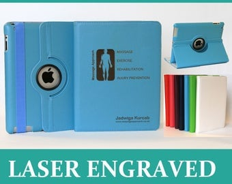 Personalised PU Leather Rotating Smart Stand Case Cover iPad 2 3 4 / Mini 1 2 3