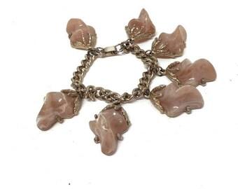 Lucite Charm Bracelet